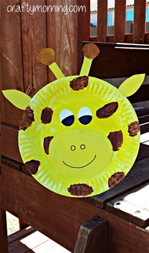 giraffe paper plate craft creative paper plate crafts for to make crafty morning
