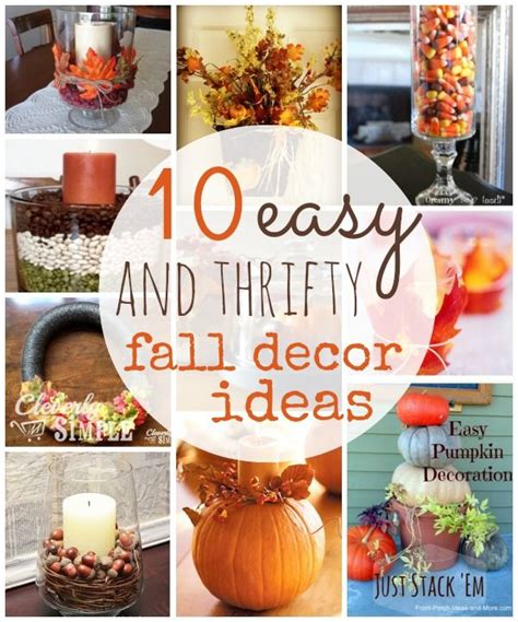 b home decor 10 thrifty fall home decor ideas to create herfst