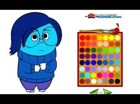 imagenes de tristeza la de intensamente juego de colorear intensamente a tristeza youtube