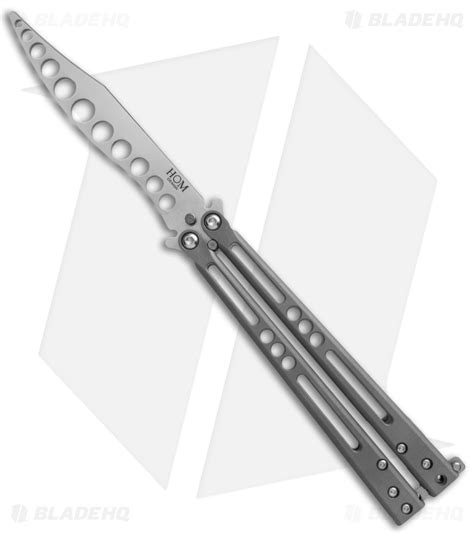 hom design hom design prodigy trainer titanium balisong butterfly