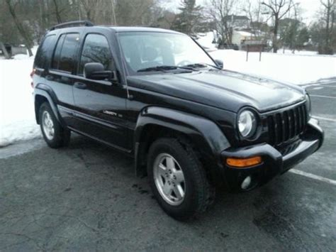 black jeep liberty 2003 purchase used black 2003 jeep liberty limited 4wd