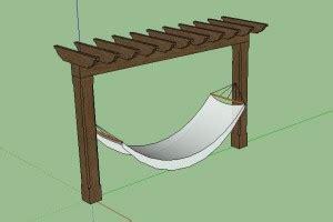 Pergola Hammock Stand Plans by Wood Work Pergola Plans With Hammock Pdf Plans
