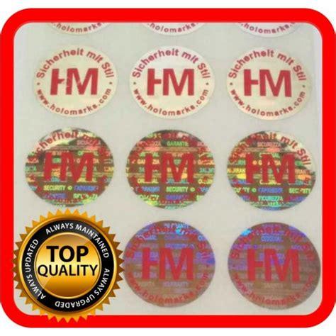 Hologramm Etiketten by Hologramm Etiketten Mit Ihrem Logo In Rot Rund 22mm