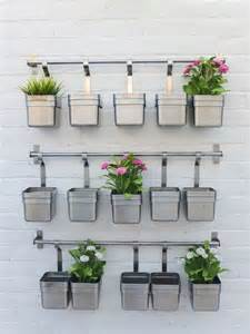 Wall Planters Indoor Ikea by Garden Herb Wall Outdoor Living Pinterest Herb Wall
