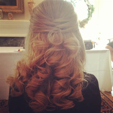 neat half up half down hairstyles wedding half up hair neat criss cross in back my quot one