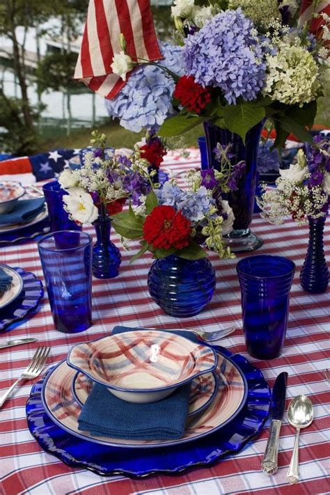 Day 6 Table Settings As by 14 Patriotic July 4th Table Setting Up Cheap