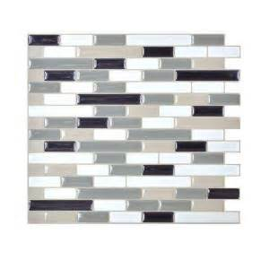 home depot backsplash tiles smart tiles muretto blues 10 20 in x 9 10 in peel and