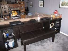 Narrow Bookshelves Ikea - expedit sofa table bar computer desk ikea hackers ikea hackers
