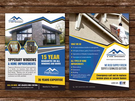flyer design for tipperary windows home improvements by