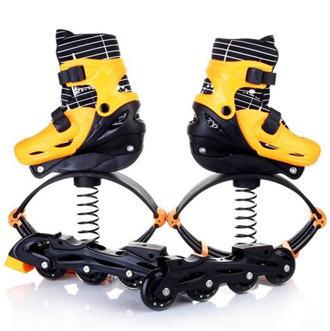 Piyama Jumper Pendek Ctr 2in1 high quality 2 in 1 skate and kangaroo jump shoes fitness exercise 30 70kg space bouncing shoes