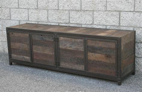 Credenza Media Console combine 9 industrial furniture handmade rustic media console credenza