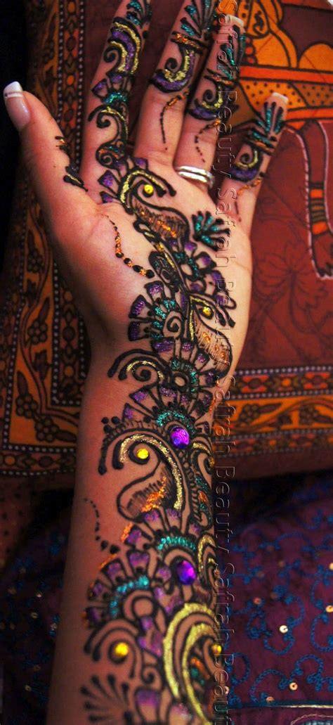 colorful henna tattoos color henna designs makedes