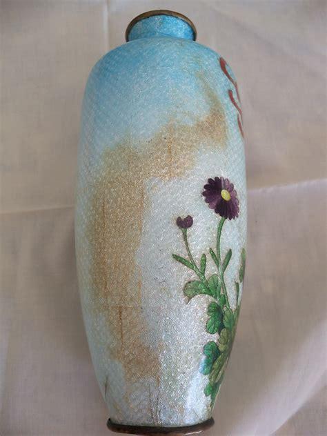 Vase Appraisal by Antique Believed Cloissone Vase In Wooden