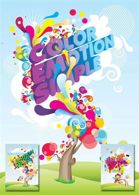 colorful posters colorful posters vector design