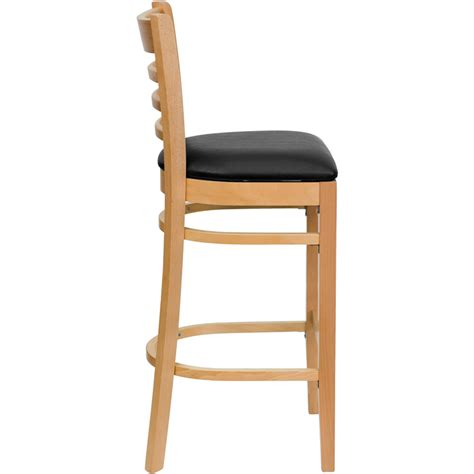 restaurant quality bar stools wood ladderback barstool