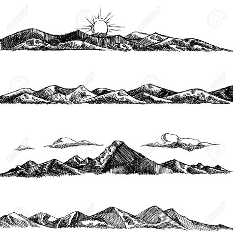 Drawing Mountains by Mountains Drawing Search Block Printing
