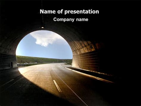 ppt templates for automobile presentation automobile tunnel presentation template for powerpoint and