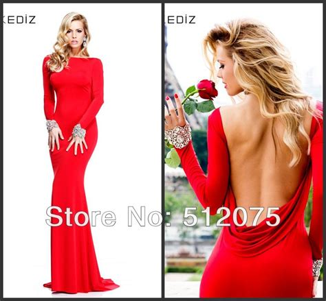boat neck open back prom dress new arrival boat neck mermaid crystals open back full