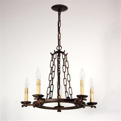 Wonderful Antique English Tudor Five Light Chandelier Tudor Chandelier