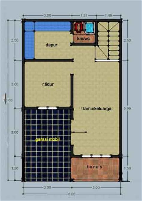 desain rumah ukuran 6x10 desain renovasi rumah type 21 2 lantai gambar a1