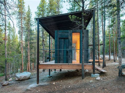 prefab metal cabins micro wooden cabins in colorado5 fubiz media