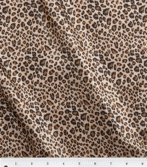 leopard fabric fashion linings leopard printed fabric joann