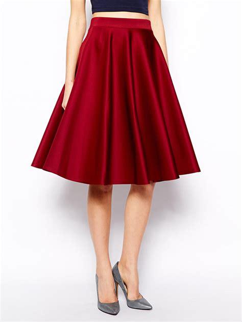 vintage cocktail high waist a line pleated skirt