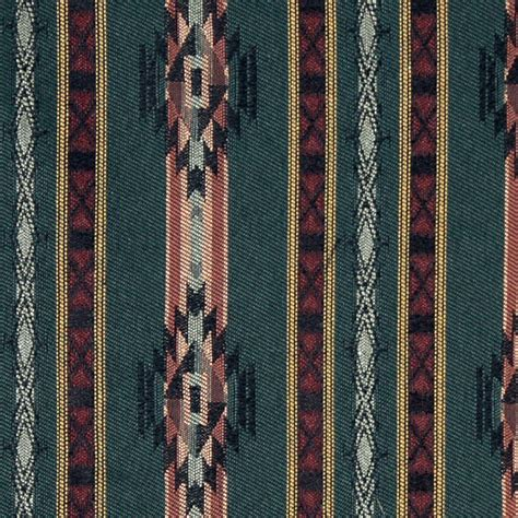 Style Upholstery Fabric by Striped Southwest Navajo Style Upholstery Fabric By The