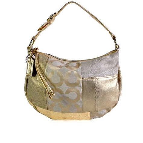 Coach Patchwork Handbag - coach ali patchwork hobo handbag