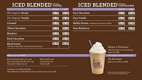 Coffee Bean Malaysia coffee bean and tea leaf menu menu world