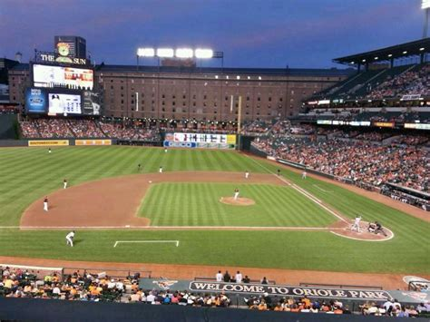 camden yards sections oriole park at camden yards section 248 row 1 seat 16