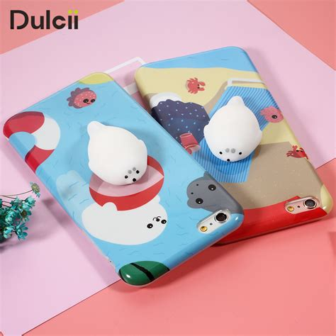Squishy Cat Silikon Premium Custom Iphone 6 6s 6 Plus 7 7s 7 Plus 3d squishy phone for iphone 6 7 marshmallow soft silicone gel shell with lovely cat