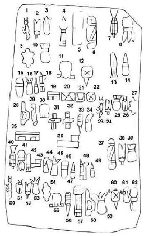 imagenes de jeroglíficos olmecas escritura olmeca m 225 s antigua