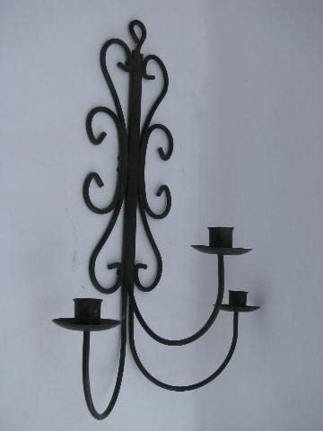 Wrought Iron Candle Wall Sconces Vintage Wrought Iron Scrollwork Candle Sconce Wall Mount Candelabra