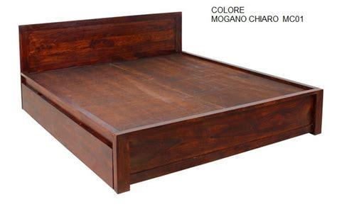 letto legno letto legno con contenitori mobili etnici provenzali
