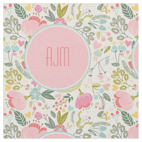 pastel pattern material preppy pastel floral girly pattern fabric zazzle