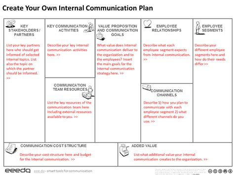 Free Tool To Create Your Internal Communication Plan Free Communication Plan Template