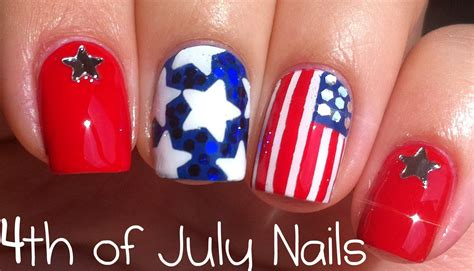 tutorial nail art youtube 4th of july nail art tutorial youtube