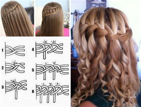 diy hairstyles with braids how to diy double waterfall triple french braid hairstyle