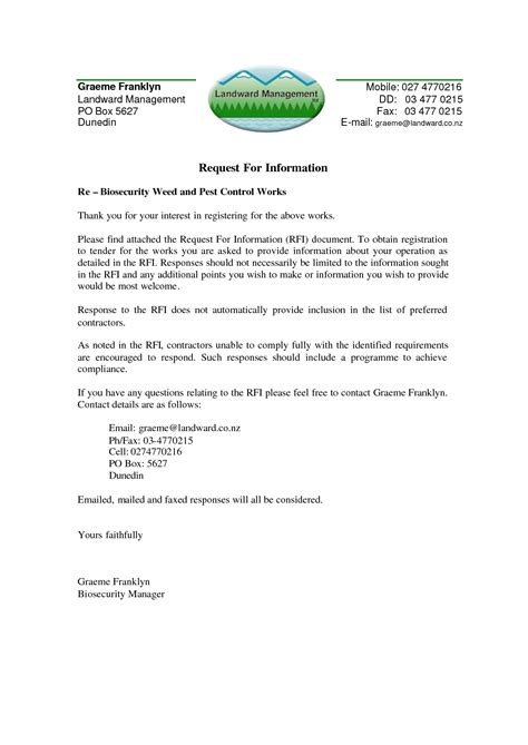 Response Letter For Rfp Best Photos Of Rfp Cover Letter Sle Sle Rfp