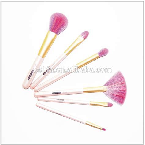 Handmade Makeup Brushes - 6pcs portable rainbow hair handmade makeup brush set
