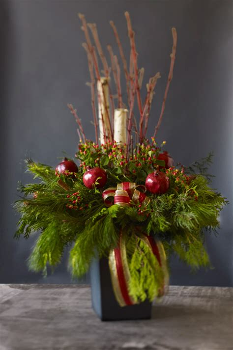 christmas decoration for urn fruit inspired decor style at home