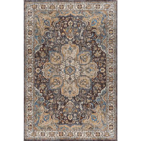 Rug 3 Ft by Tayse Rugs Fairview Brown 5 Ft 3 In X 7 Ft 3 In Area