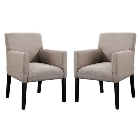 chloe contemporary upholstered armchair with wood legs beige