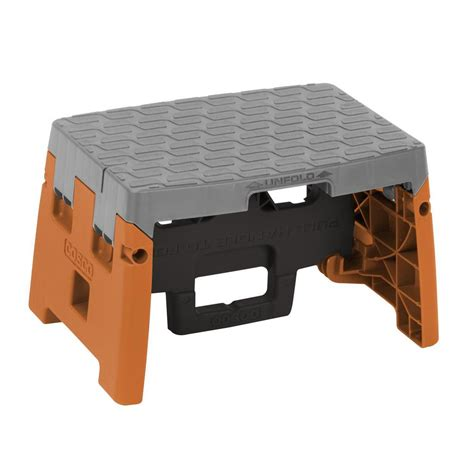 Folding 1 Step Stool by Cosco 1 Step Resin Molded Folding Step Stool Type 1a In