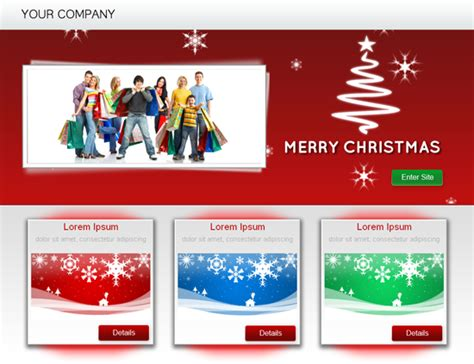 Christmas Landing Page Template Templates Dmxzone Com Dreamweaver Landing Page Templates Free