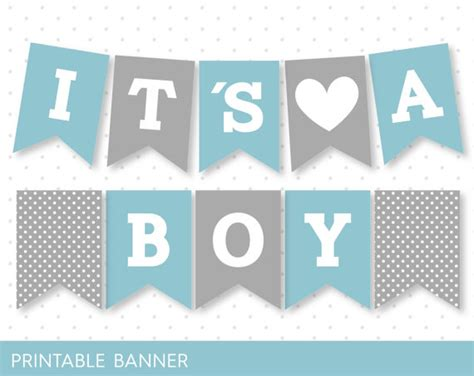 printable alphabet letters for baby shower items similar to blue banner grey banner oh baby banner
