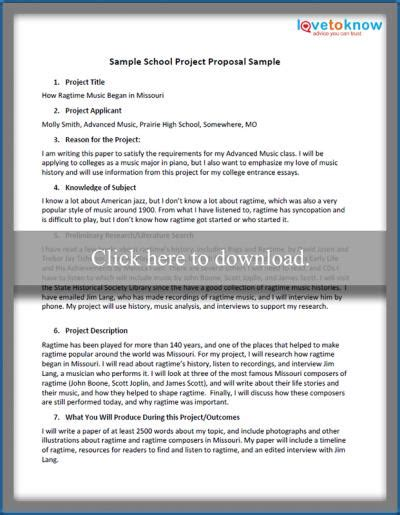 templates example school project proposal template of proposal