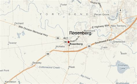 map of rosenberg texas rosenberg location guide