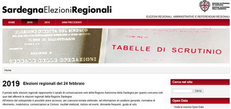 ministero interni elezioni regionali elezioni regionali in sardegna in corso lo scrutinio